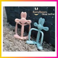 (Original) Mamas Tem Bunny Banana Glove Teether + Case - Peach