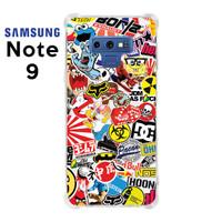 Casing Custom Case Samsung Galaxy Note 9 Softcase Anticrack Sticker 4