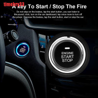 timehry Car PKE Keyless Entry Engine Start Stop Auto Remote Push