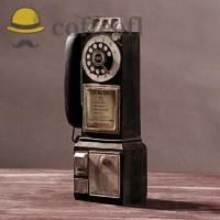 Ce Ornamen Model Pay Telepon Putar Klasik Vintage Retro Untuk