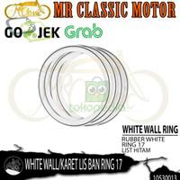 BAN MOTOR D000R736 WHITE WALLKARET LIS RING 17 WARNA HITAM