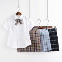 Jepang dan Korea Selatan kelas baju sekolah siswa pakaian pelaut rok