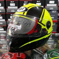 MX488 Helm Full Face KYT Rocket 2 Yellow Fluo Black Gun Metal