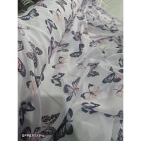RX018 kain ceruti motif kupu kupu. bahan gamis bahan outer dll