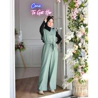 Fashion Baju Gamis Wanita Muslimah Terbaru Raquel Jumpsuit