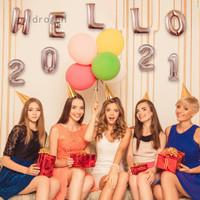 Goldrogen Hello 2021 Balon Dekorasi Tahun Baru Imlek