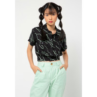 Colorbox All Over Print Shirt I-Bswfct221A002 Black