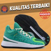 Sepatu Basket Sneakers Adidas Rose 11 Christmas green white hijau