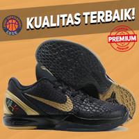 Sepatu Basket Sneakers Nike Kobe 6 Protro BHM Black Gold hitam emas