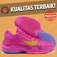 Sepatu Basket Sneakers Nike Greek Zoom Freak 2 Vivid Pink Gold Purple