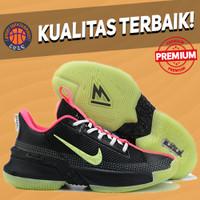 Sepatu Basket Sneakers Nike Lebron Ambassador 13 Yeezy Black Pink