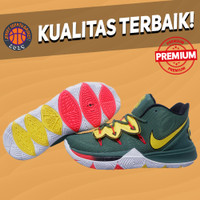 Sepatu Basket Sneakers Nike Kyrie 5 Kick Ass Green White Yellow hijau