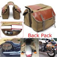 Tas Sadel Sepeda Motor Bahan Kanvas untuk haley Sportster Honda