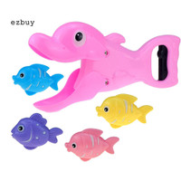 ey 5Pcs Baby Lobster Sea Lion Dolphin Eat Fish Interactive Game Bath
