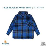 Booyah Baby & Kids Flannel Shirt Blue Black (2-10 tahun Tahun)