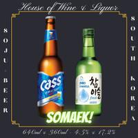 Somaek ( Cass Beer 640 ML + Jinro Soju Korea 360 ML )