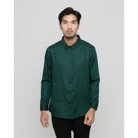 LIVEHAF - Toyo Long Shirt Dark Emerald