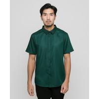 LIVEHAF - Toyo Short Shirt Dark Emerald