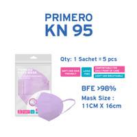 Primero KN95 Lilac - 1 Sachet isi 5pcs