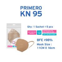 Primero KN95 Coffee - 1 Sachet isi 5pcs