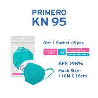 Primero KN95 Sky Blue - 1 Sachet isi 5pcs