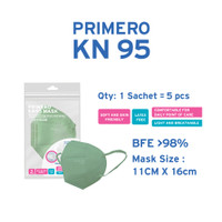 Primero KN95 Matcha - 1 Sachet isi 5pcs