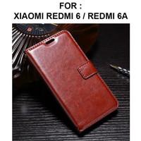 Flip Case Wallet Leather Cover Xiaomi Redmi 6 6A Casing Kulit Dompet