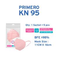 Primero KN95 Soft Pink - 1 Sachet isi 5pcs