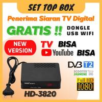 STB Konverter Siaran TV Digital TV Tuner Set Top Box Receiver DVB-T2