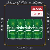 Carlsberg Pilsner Bir Kaleng / Beer Can 320 ML ( Isi 4 Can )