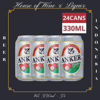 Anker Bir Lychee Kaleng ( Bir Rasa Leci ) 330 ML ( Isi 24 Can )
