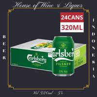 Carlsberg Pilsner Bir Kaleng / Beer Can 320 ML ( Isi 24 Can )
