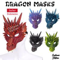 AGT13 - Dragon Mask Topeng Naga Hewan Binatang Pesta Dewasa