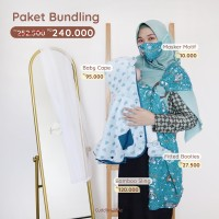 Paket Ring sling gendongan baby cape Fitted Booties Cuddle Me masker
