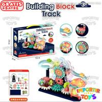 Mainan Edukasi Anak Lego Blocks Elektrik Gear Ferris Wheel Track Musik