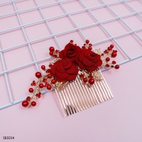 Sirkam Sanggul Bunga Emas Modern l Aksesoris Wedding Lenka - SRE 014