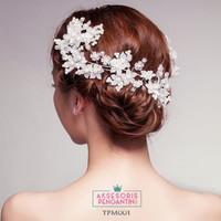 Aksesoris Sanggul pesta l Tiara Rambut Pengantin Wedding - TPM 001