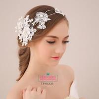 Aksesoris Sanggul Pengantin Modern l Tiara Rambut Wedding - TPM 006