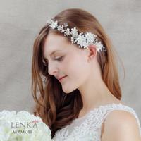 Aksesoris Tiara Sanggul Pesta Wedding l Hiasan Rambut Lenka MRM 018