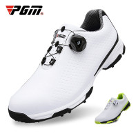 SPESIAL PROMO PGM Golf Shoes Men Sports Shoes Waterproof Knobs Buckle