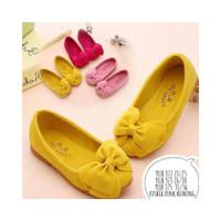 SK230 Sepatu anak lucu flat shoes perempuan cewek cewe pink yellow kun