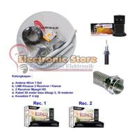 Antena Parabola Mini 45cm Receiver Matrix Burger S8 Ninmedia 2 TV