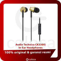 Audio Technica Solid Bass In Ear Headphones ATH CKS550iS BLACK GOLD