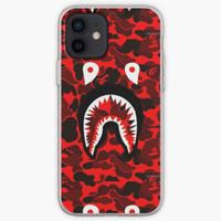 Casing iphone 6 7 8 X 11 12 CAMO BAPE RED SHARK Mini Max Pro Plus case