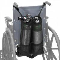 Tas Pouch Penyimpanan Tabung Oksigen Ganda Bahan Mesh Untuk Kursi