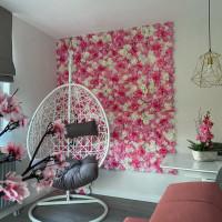 Bunga Rose Model Imitasi Bahan Sutra Untuk Backdrop Pesta Pernikahan