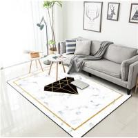 gaya karpet Nordic marmer putih berlian hitam benang emas merah muda