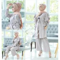 Baju Kondangan Muslim Wanita Cowok/Couple Kapel/ SET DANDELION JUMBO