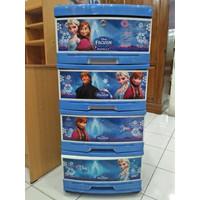 Lemari Frozen Plastik Napolly Susun 4 Asli