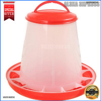 A.E 1.5Kg Red Plastic Feeder Baby Chicken Chicks Hen Poultry Feed
